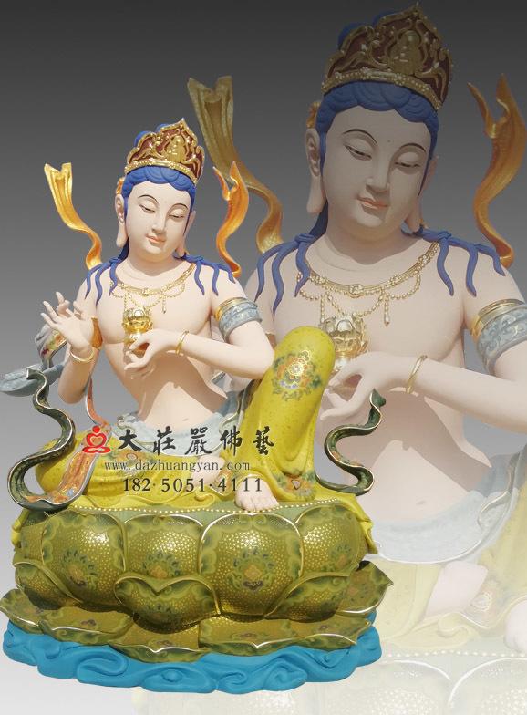 供养菩萨彩绘像