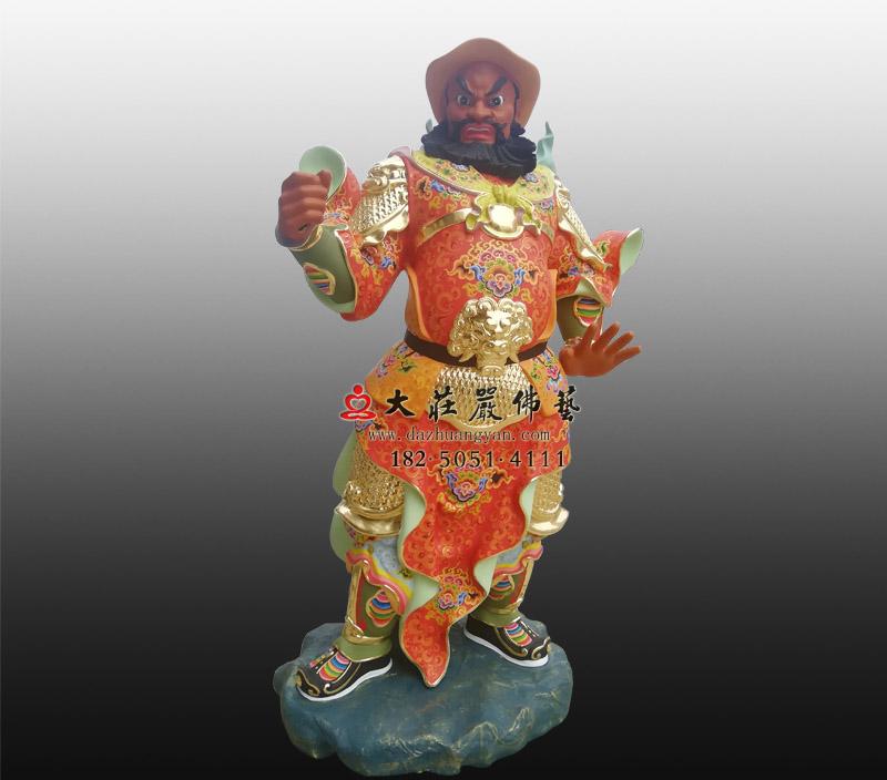 关公左右护法神像周仓神像彩绘雕塑