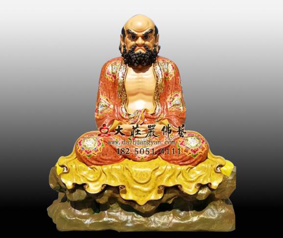 禅宗二十八祖达摩祖师彩绘铜像菩提达摩雕塑定制