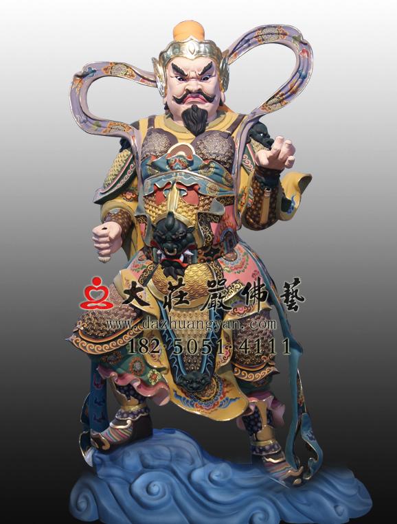 托塔李天王彩绘神像