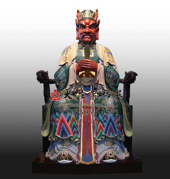 龙王彩绘塑像