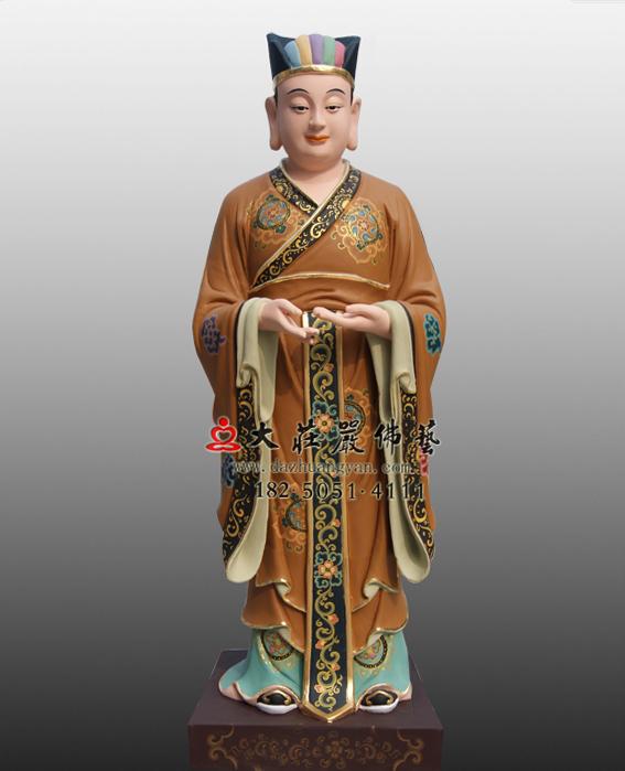 鲁班童子彩绘塑像