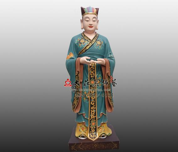 道教神像鲁班童子彩绘塑像