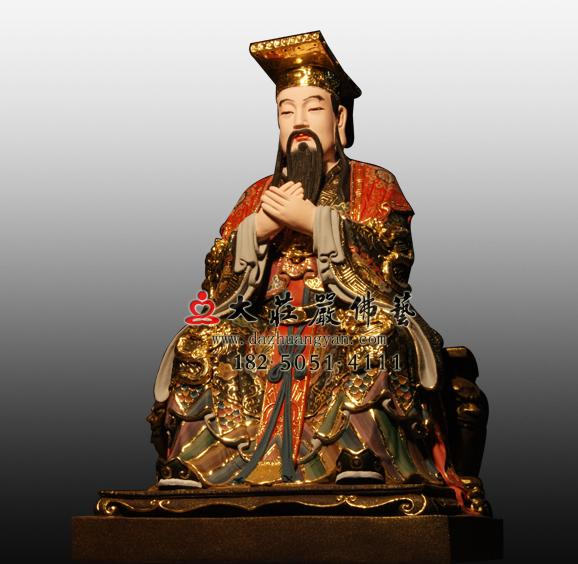 玉皇大帝彩绘塑像