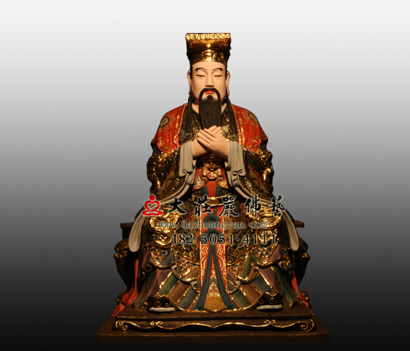 铜神像玉皇大帝彩绘神像昊天上帝神像订做