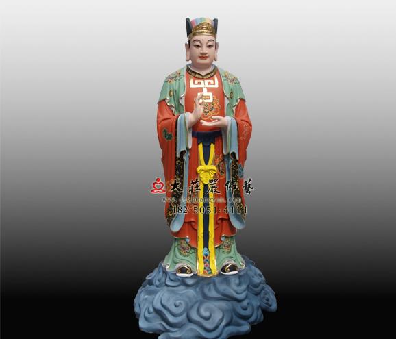 道教神像彩绘童子雕塑定制