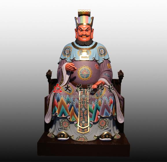 铜雕十殿阎王之十殿转轮王塑像