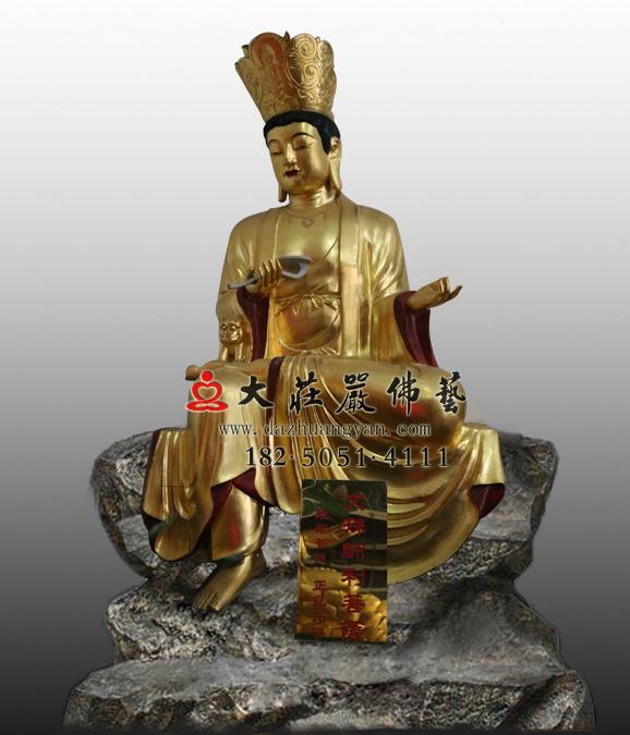 铜雕十二圆觉菩萨之文殊菩萨