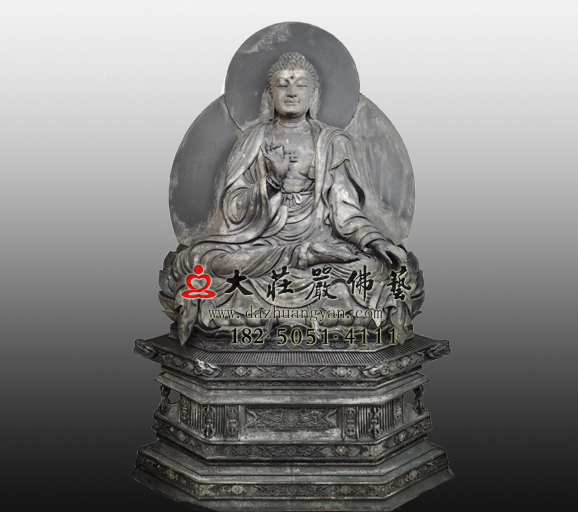 土漆脱胎佛教过去七佛之毗舍浮佛雕塑实拍图