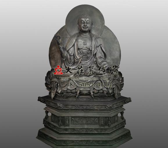 生漆脱胎佛教过去七佛之尸弃佛雕塑定制