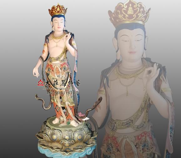 佛教八大菩萨之弥勒菩萨彩绘佛像定制弥勒佛雕塑
