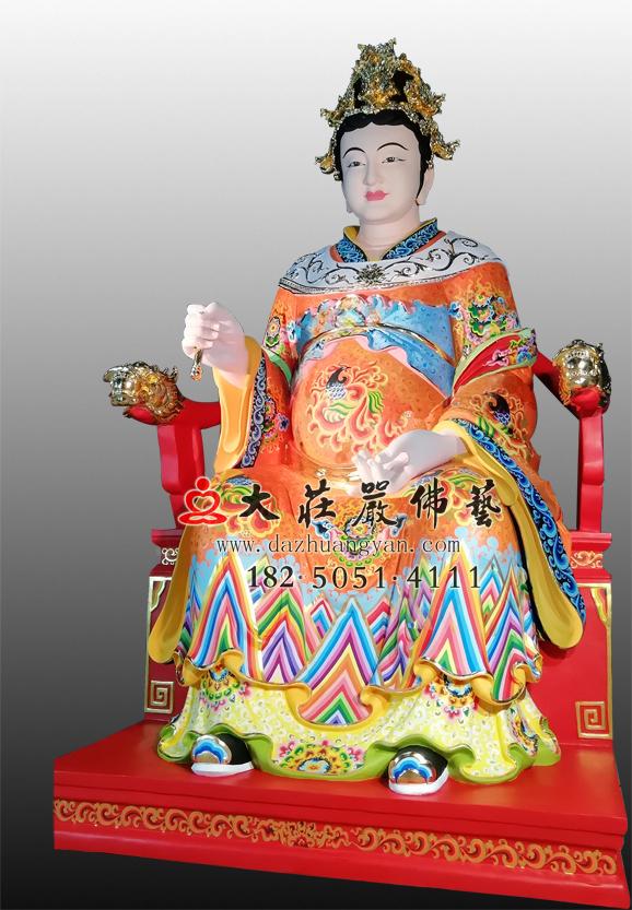 江夫人彩绘神像右侧照