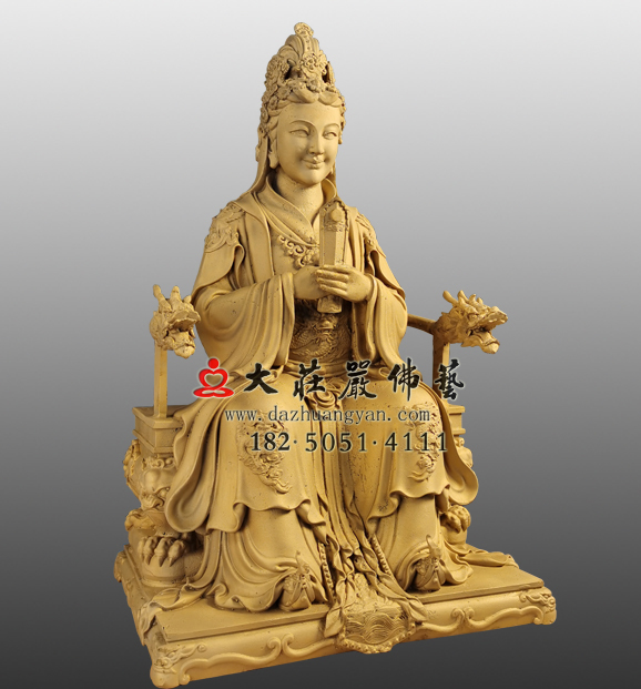 宝玉娘娘铜雕塑像