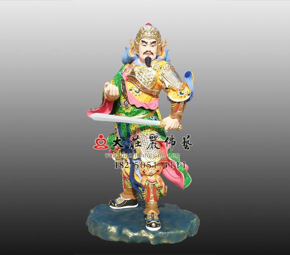 道教神像天聋地哑彩绘雕塑实图