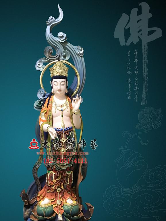 西方三圣之大势至菩萨彩绘精品佛像订制