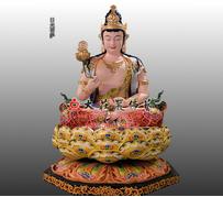 日光菩萨彩绘佛像