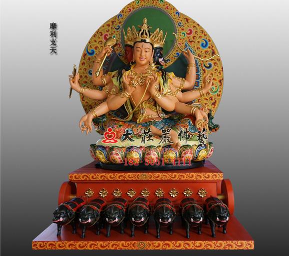 密宗佛像之摩利支天彩绘雕塑订制