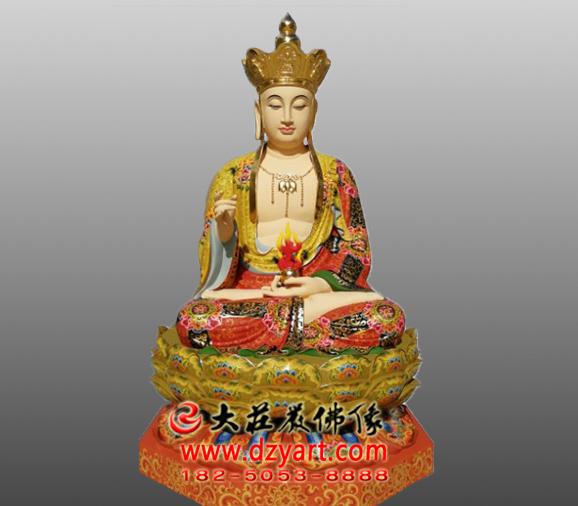 南无地藏王菩萨极彩彩绘雕塑像定做
