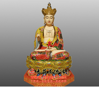 地藏菩萨彩绘塑像