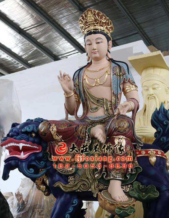 华严三圣之文殊菩萨侧面佛像