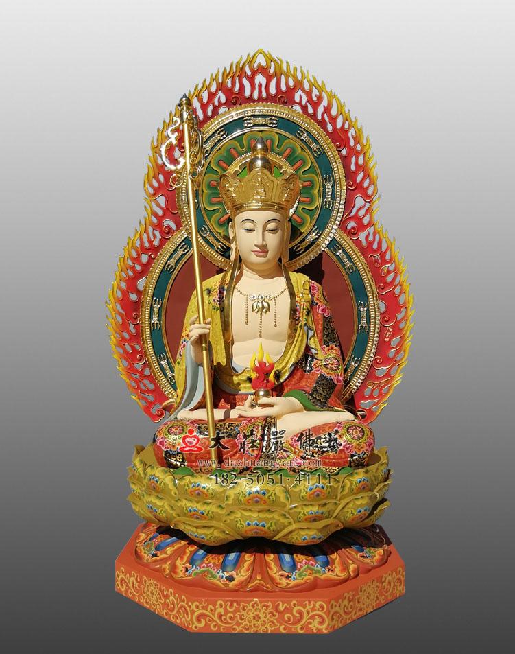 定制铜像地藏王菩萨雕塑 四大菩萨地藏菩萨彩绘佛像