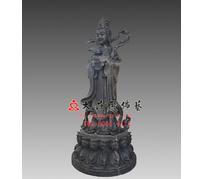 善财龙女中国老漆脱胎雕塑佛像