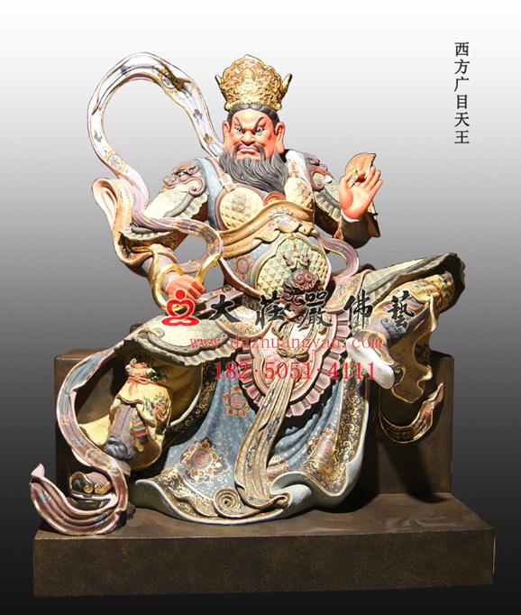 佛教护法天神四大天王塑像 护世天王佛像雕塑