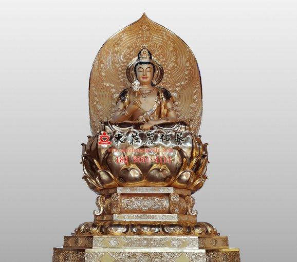 月光菩萨 月净菩萨 月光遍照菩萨 东方三圣佛像