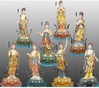 八大菩薩銅雕佛像