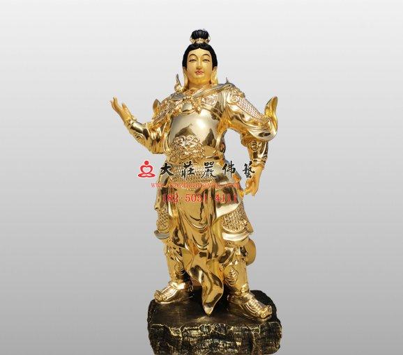 祇陀太子佛像 伽藍菩薩大護法雕塑定制