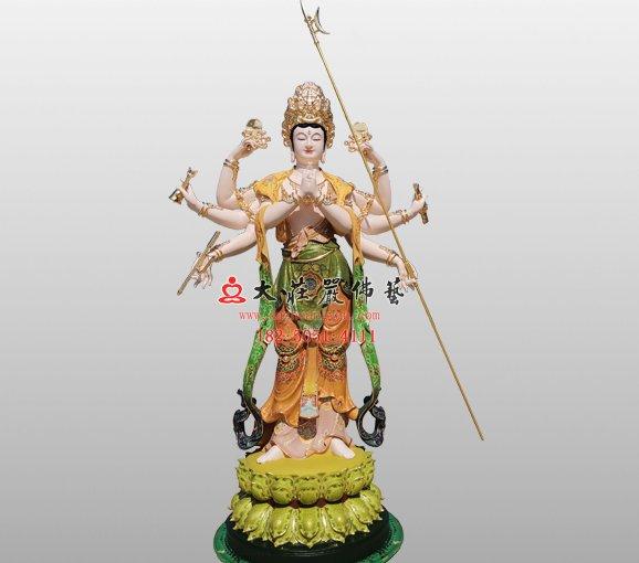 銅雕摩利支天佛像 摩利支天菩薩 大摩里支菩薩佛像雕塑 具光明天女 具光佛母