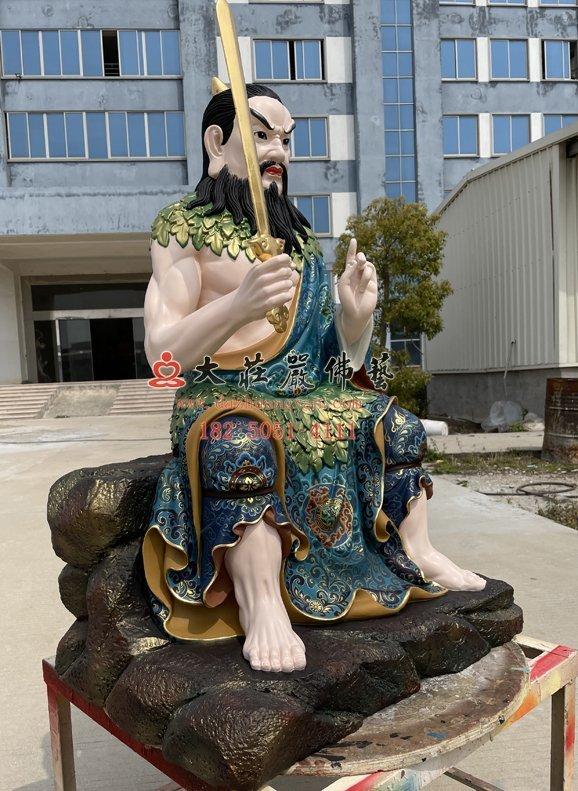 伏羲神像左侧照