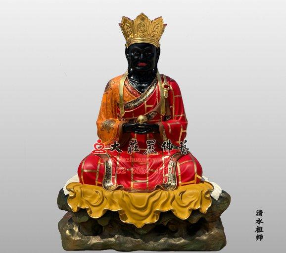 铜雕清水祖师 麻章上人 黑面祖师 清水真人雕塑定制