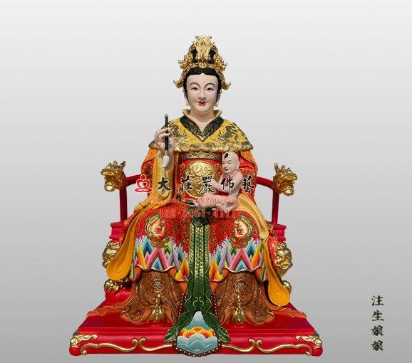 注生娘娘铜雕神像 注生妈神像 铜雕送子娘娘神像 成育之神注生娘娘